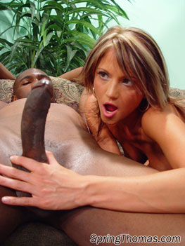 Black girl and white guy fuck